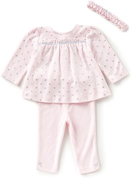 Little Me Baby Girls 3-12 Months Foiled-Star-Print Tunic & Solid Leggings Set