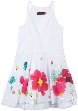 Catimini Cotton Floral Tank Dress