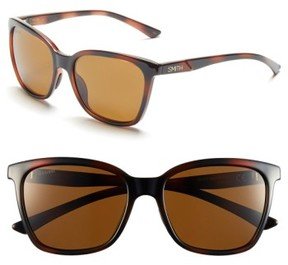 Smith Women's 'Colette' 55Mm Polarized Sunglasses - Tortoise/ Polar Brown