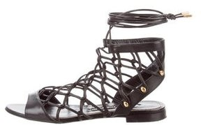 Tom Ford Lace-Up Leather Sandals