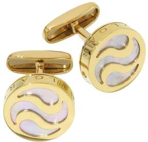 Bulgari 18K Yellow Gold Mother of Pearl Allegra Optical Cufflinks
