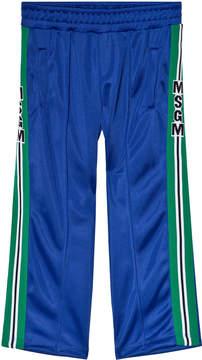 MSGM Blue Technical Logo Track Pants