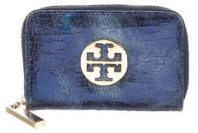 Tory Burch Textured Leather Coin Pouch - BLUE - STYLE