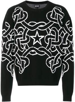 Just Cavalli starr printed sweatshirt