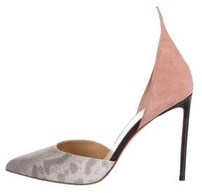 Francesco Russo Karung Pointed-Toe d'Orsay Pumps w/ Tags