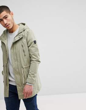 Solid Parka In Khaki