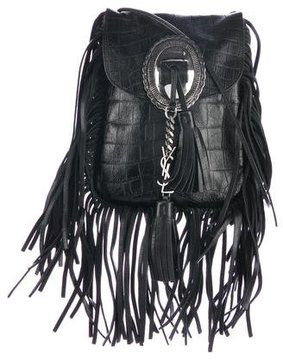 Saint Laurent Anita Studded Fringe Bag - BLACK - STYLE