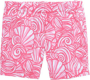Vineyard Vines Girls Nautilus Shell Print Island Shorts