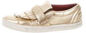 Marc Jacobs Metallic Kiltie Slip-Ons