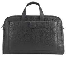 HUGO BOSS Top-Grain Leather Bag Varenne Holdall One Size Black