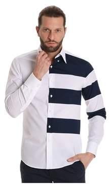 Paul & Shark Men's White/blue Cotton Shirt.