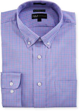 Neiman Marcus Classic-Fit Check Dress Shirt