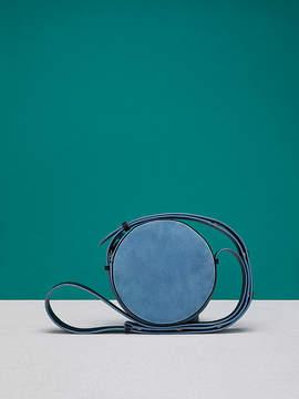 Diane von Furstenberg Suede Circle Handbag