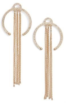 Ettika Women's Open Hoop Drop Earrings