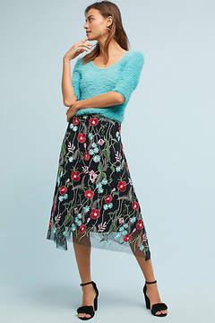 Eva Franco Poppy Embroidered Skirt