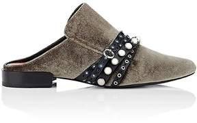 3.1 Phillip Lim Women's Embellished-Strap Velvet Mules