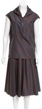 Cacharel Printed Sleeveless Skirt Set