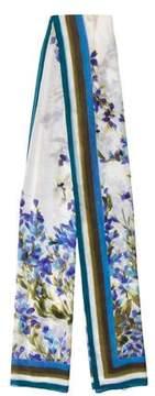 St. John Floral Silk Scarf