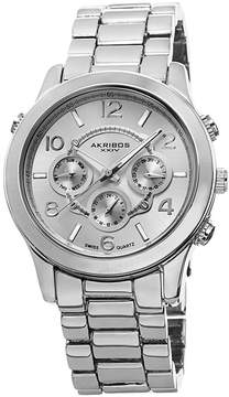 Akribos XXIV Silvertone Ladies Watch