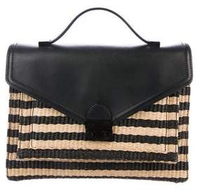 Loeffler Randall Leather-Trimmed Canvas Bag