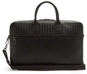 Bottega Veneta Intrecciato-panel smooth-leather briefcase