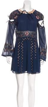 For Love & Lemons Embroidered Mini Dress