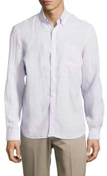 Black & Brown Black Brown Casual Linen Button-Down Shirt