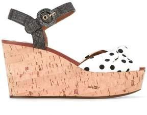 Dolce & Gabbana polka dot wedge sandals
