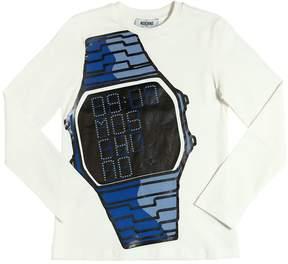Moschino Watch Printed Cotton Jersey T-Shirt