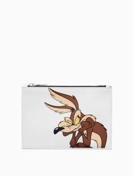 Calvin Klein wile e. coyote small pouch in palmellato leather