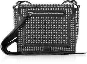 McQ Alexander McQueen Black Studded Leather Leather Mini Crossbody Bag