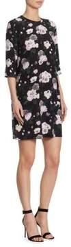 Equipment Aubrey Floral Print Silk Dress