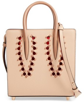 Christian Louboutin Small Paloma Empire Leather Tote - Beige