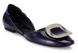 Roger Vivier Ballerine Chips Patent Leather d'Orsay Flats
