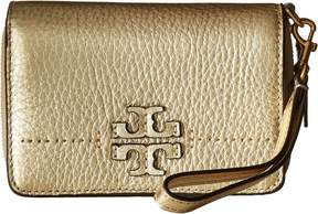 Tory Burch McGraw Metallic Bifold Wallet Wallet Handbags - GOLD - STYLE