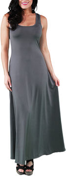24/7 Comfort Apparel Scoop Neck Tank Maxi Dress