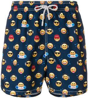 MC2 Saint Barth emoticon print swim shorts