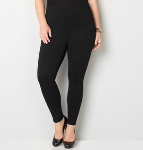 Avenue Wide Waist Ponte Legging (Black)