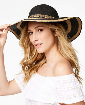 INC International Concepts I.n.c. Woven-Stripe Floppy Hat, Created for Macy's