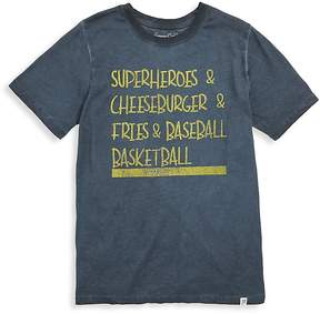 Sovereign Code Boy's Graphic Cotton Tee - Navy, Size xl (18-20)