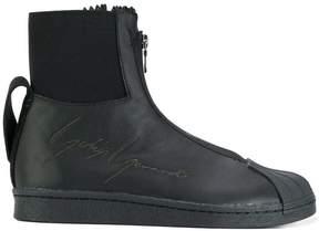 Yohji Yamamoto embossed zipped sneakers