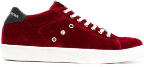 Leather Crown velvet sneakers