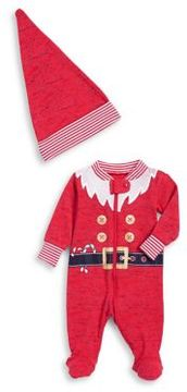 Petit Lem Baby Boy's Two-Piece Elf Footies and Pointed Hat Pajama Set