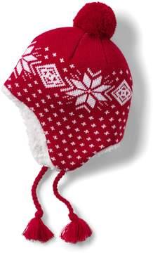 Lands' End Lands'end Boys Patterned Peruvian Knit Hat