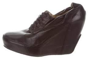 Dries Van Noten Leather Wedge Booties