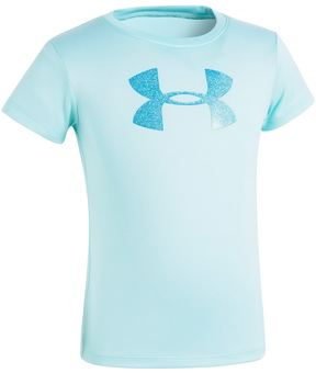 Under Armour Girls 4-6x Glitter Logo Tee