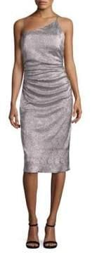Laundry by Shelli Segal Metallic Asymmetric Dress