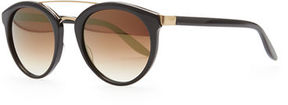 Barton Perreira Dalziel Round Sunglasses with Metal Bar
