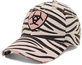 Ariat Distressed Zebra Shield Patch Baseball Cap