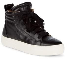 Helmut Lang Enya Hi-Top Leather Sneakers